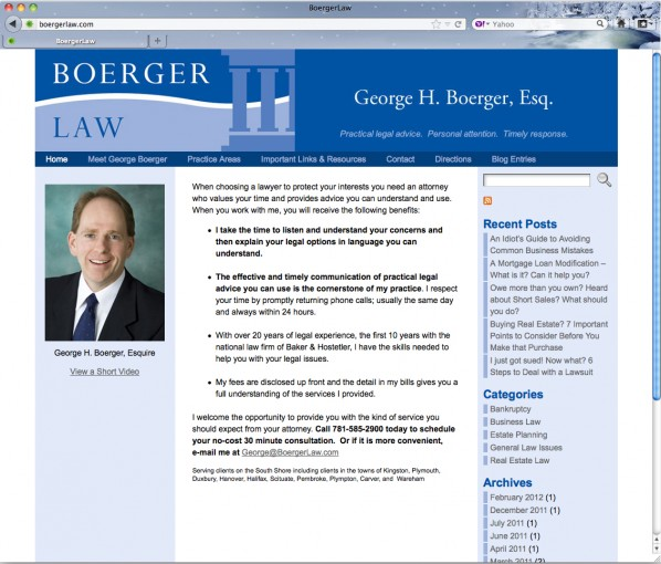 Boerger Law website