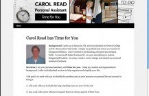 Carol Read Time4U one-page website