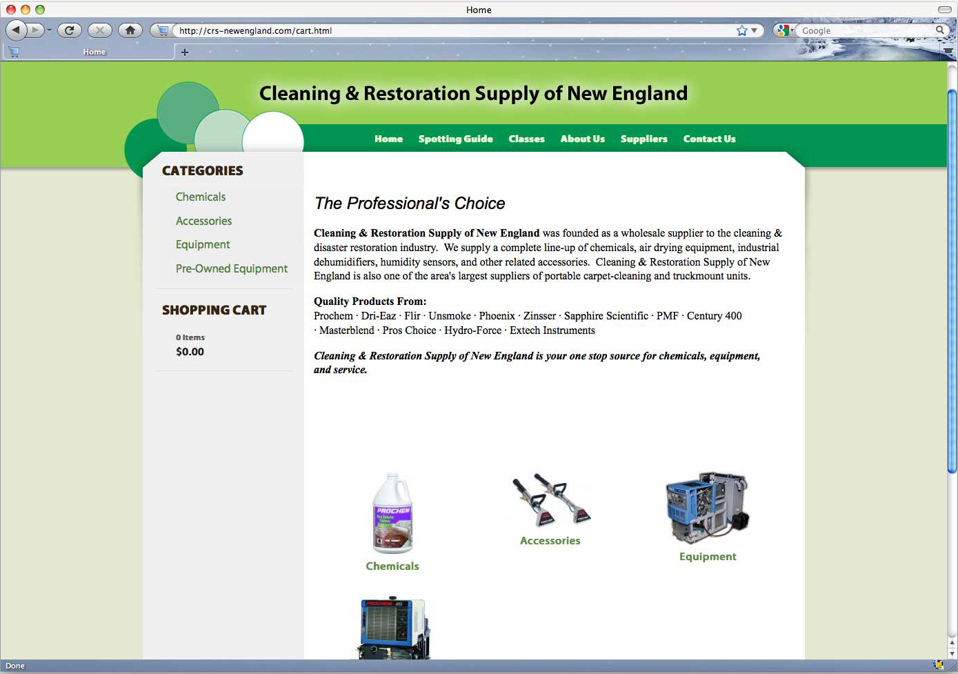 Cleaning and Restoration Supply of New England new website