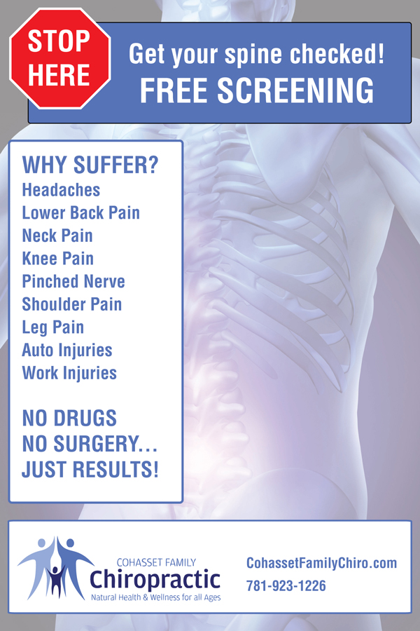 Cohasset Family Chiropractor poster, sign, banner