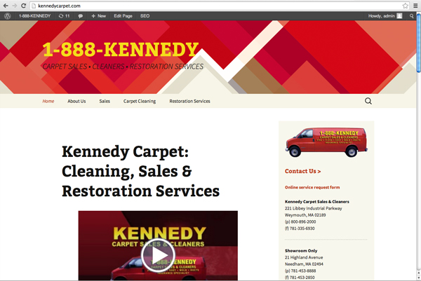 Kennedy Carpet sales, cleaning and restoration Greater Boston