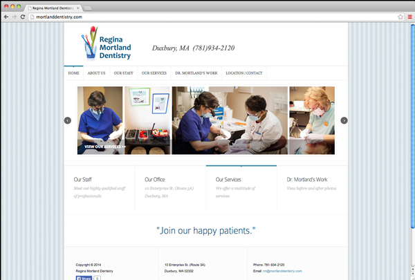 Mortland Dentistry new website, dentist, Duxbury