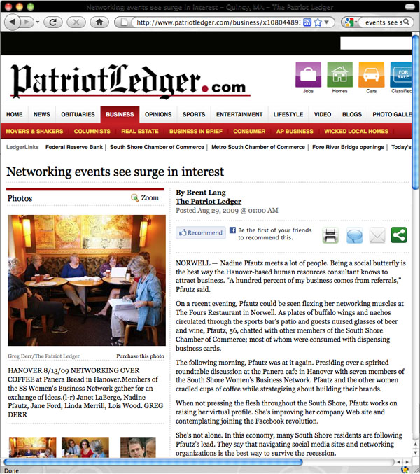 Patriot Ledger article on Business Roundtables