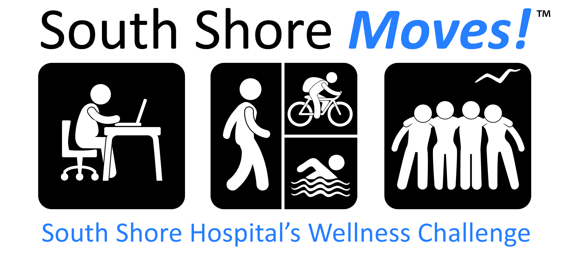 South Shore Moves! logo, program of South Shore Hospital