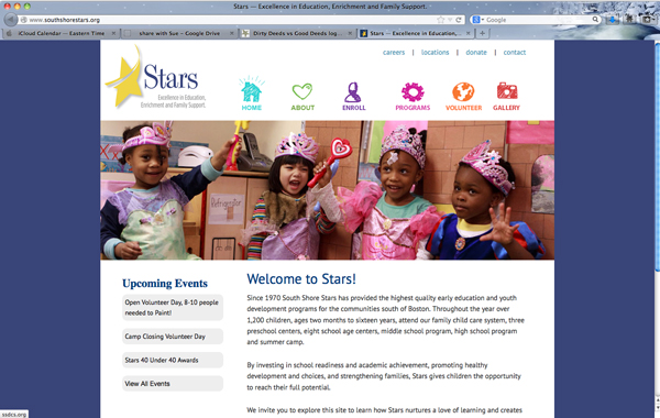 South Shore Stars website