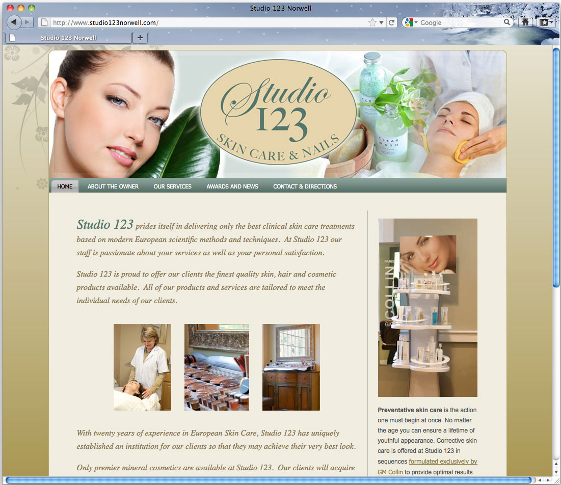 Studio 123 Norwell skin care