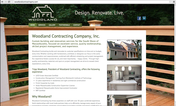 Woodland Contracting home construction company