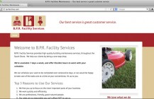 B.P.R. Facility Services logo and website