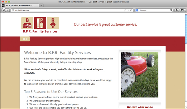 BPR Facility Services website