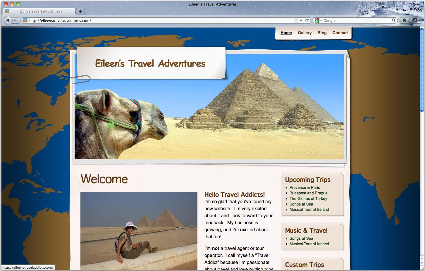 Eileen's Travel Adventures customized travel groups
