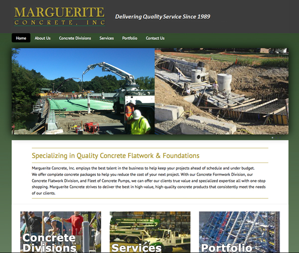 Marguerite Concrete new website