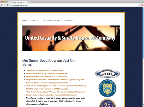 United Casualty & Surety Insurance Company, surety bonds, bonds